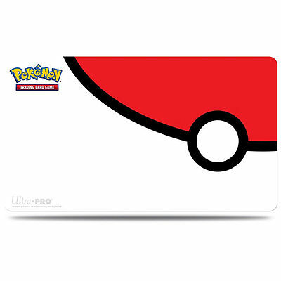 POKEBALL RED AND WHITE PLAYMAT PLAY MAT ULTRA PRO FOR Pokemon CARDS TCG
