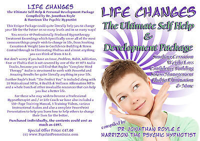 """""""Life Changes"""" Ultimate Hypnotherapy & NLP Self-Help Self-Hypnosis Audio Package"""