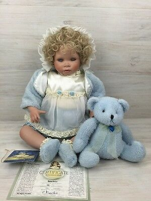 """Angel's Paradise Porcelain Limited Edition Doll Baby Bienchen 23"""" COA"""