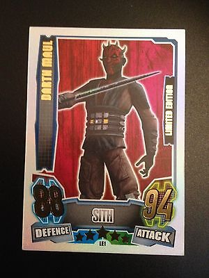Star Wars Force Attax Darth Maul Limited Edition Le1 Card 2013 Rare!