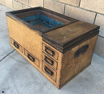 antique APOTHECARY HERB CHEST Asian Chinese Japanese Tansu