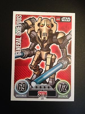 Star Wars Force Attax Promotional Card 2010 L73 Lego General Grievous Rare!