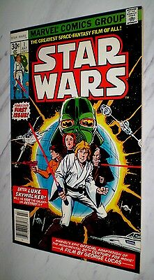 Star Wars #1 NM+ 9.6 OW/W pages Unrestored 1977 Marvel Bronze age