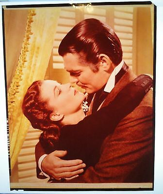Authentic Vintage Color Transparency Gable and Leigh in Gone With the Wind 8x10