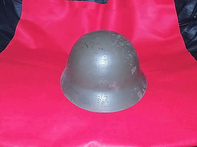 Original Ww2 Imperial Japanese  Army Helmet-Complete With Inner Lining/name