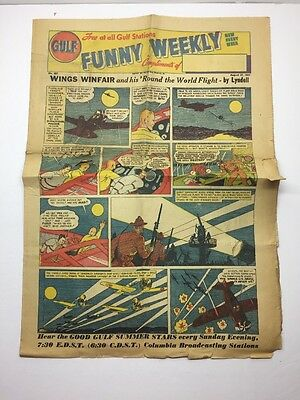 1937 Gulf Funny Weekly August 27 #227 Vintage Comic Curly And The Kids