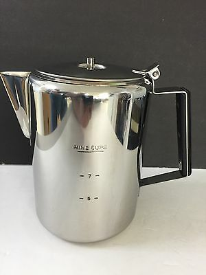 ozark trail  Stainless Steel Percolator Coffee Pot 9 Cup 3 pc system