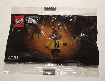 Lego 4051 Quicky The Bunny Nesquik Minifigure Polybag - New Sealed & Rare!