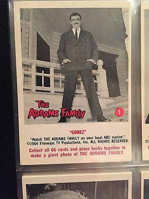 1964 Donruss Addams Family Card Set Near Mint/Mint with Wrapper