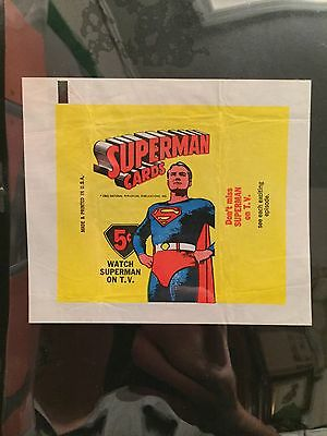 1966 Topps Superman Complete Set 66 Cards Near Mint/mint With Wrapper