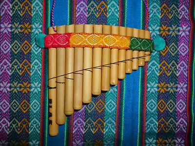 Professional Curved Pan Flute Ramos 13 Pipes -See Video - From Peru