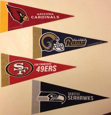 NFL 2016/17 Logos Mini Pennants *Free Shipping*