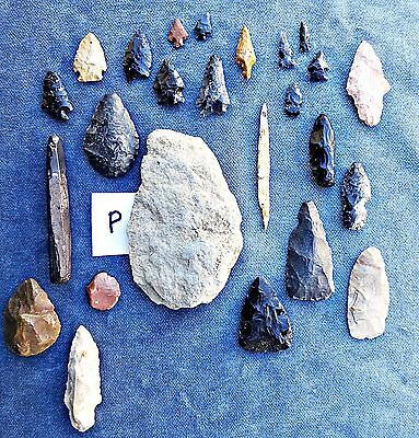"""EHG Estate P Lot of  25 ARROWHEAD Points TOOLS From OREGON 5/8"""" - 4"""""""