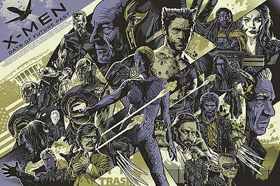 X-Men Days of Future Past Poster by Alexander Iaccarino Mondo Style RARE!