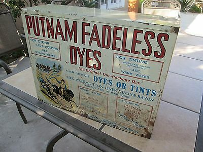 Putnam Fadeless Dyes Cabinet Country Store Display