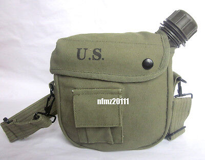 M1956 Vietnam War US Army Canteen And Cover