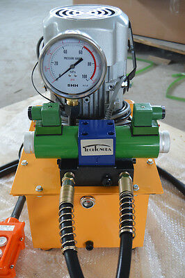 10000 PSI 110V Double Solenoid Hydraulic Pump Double Acting Romote Controlled
