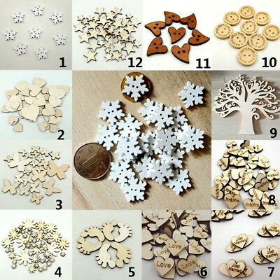 Scrapbooking Wooden Laser Cut Embellishments Craft Christmas Gifts Multi Styles