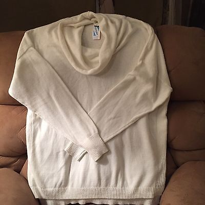 NEW Old Navy Maternity Sweater-Cream Colored Cowl Neck-XL