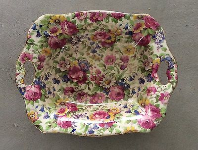 Vintage ROYAL WINTON England Wright Tyndale Chintz SUMMERTIME Pattern Nut Dish
