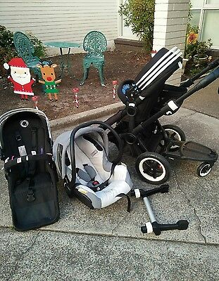 bugaboo donkey duo double pram stroller and wheel board