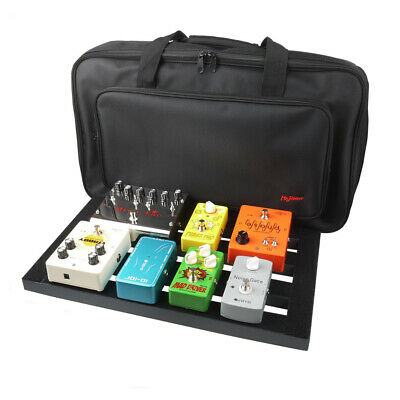 Guitar Effect Pedal Board 47x27cm Pedalboard With Bag Case Magic Strap Cables