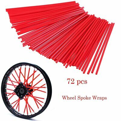 New Dirtbike Spoke Wraps Skins Coats Covers Cr Ktm Kx Yz- Red (72Pcs/pack)