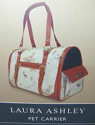 Laura Ashley Small Dog Pet Travel Carrier Bag Shoulder Strap Holds to 20 Pounds