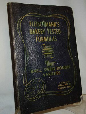 Fleischmanns Bakery Tested Formulas Cookbook Sweet Dough Large Quantity