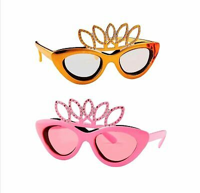 NEW CROWN ONION GLASSES Goggles Tear Free Dame Edna Everidge PINK GOLD