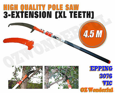 4.5m Telescopic Pole Pruner Saw Pruning Cutter Steel Garden Shear Extendable