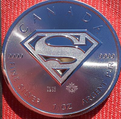 2016 Canadian maple leaf Superman Shield 1oz 99.99% 9999 pure silver coin