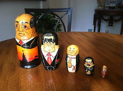 Stalin and other Russian Political Leaders Russian Matryoshka Nesting Doll