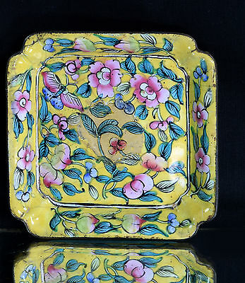 Antique Highly Decorative Cloisonné Chinese Plate Original Collectible. I14-2