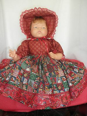 Christmas Outfit for 19-20 Inch Ideal Thumbelina Doll by Pam's Creations