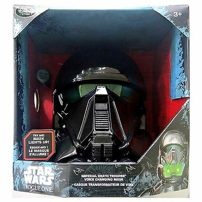 Disney Store STAR WARS ROGUE ONE IMPERIAL DEATH TROOPER Voice CHANGING Mask NEW