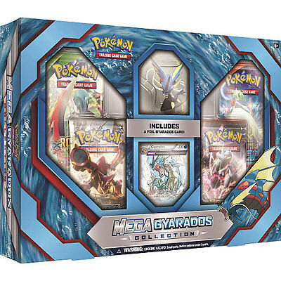 Pokemon Mega Gyarados Collection 4 TCG Booster Pack, Foil & Figure