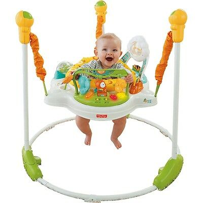 Fisher-Price Sunny Days Jumperoo Baby Bouncer, Infant Musical Activity Centre