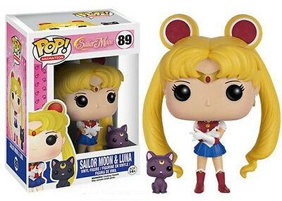 Funko Pop! Animation 89 Sailor Moon Sailor Moon and Luna Pop Vinyl Figures