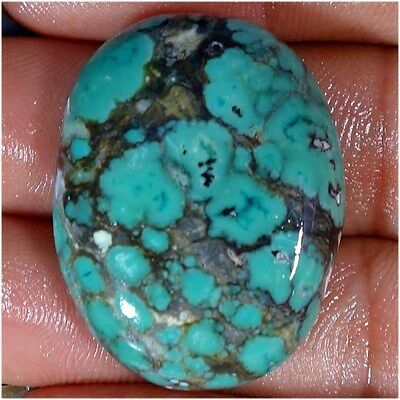 48.10Cts A+ 100% NATURAL TIBET TURQUOISE UNTREATED OVAL CABOCHON LOOSE GEMSTONES
