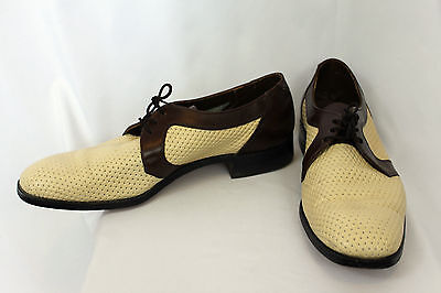 Dack's Perforated Woven Look Custom Grade Derby Casual Formal Dress Shoes Sz 9
