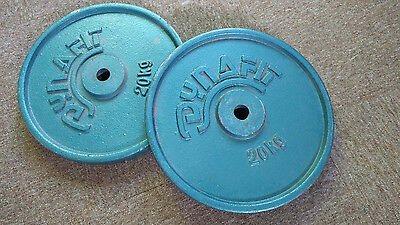 Weight plates 2x 20kg