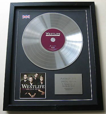 WESTLIFE The Love Songs CD / PLATINUM LP DISC Presentation