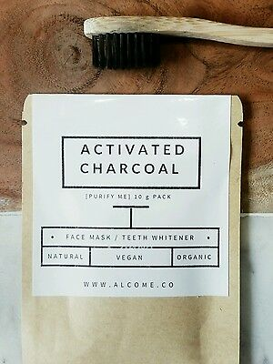 Activated Charcoal Powder 100% Organic Teeth Whitening Coconut natural  10g