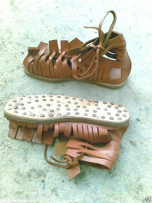 Greek Legionnaire Marching Sandals Roman Leather Sandal Medieval Gladiator Sca -