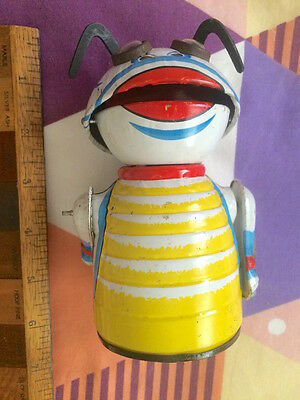 1960s MARX TOYS MOON CREATURE WIND-UP TIN TOY SPACE MONSTER COMPLETE WORKS EXC!