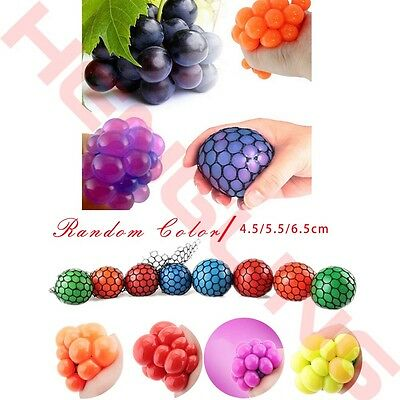 Anti Stress Face Reliever Grape Ball Autism Mood Squeeze Relief ADHD Toy 3 Sizes
