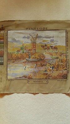 ANCHOR Tapestry Canvas no wools Penelope Windmill no wools,large and good condit