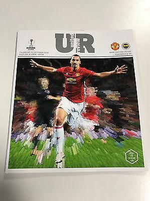 United Review - Manchester United v Fenerbahce programme 2016 Zlatan Ibrahimovic