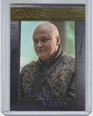 Game Of Thrones Season 5 Gold Base Card 42 Lord Varys 80/150